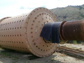 Used Dominion Rod Mill. 9.5 ft. x 14 ft. Long. 500 HP Motor.
