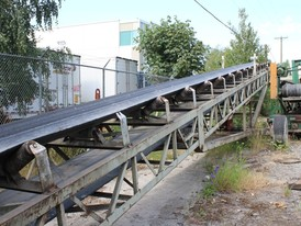 36 inch x 80 ft Radial Stacking Conveyor