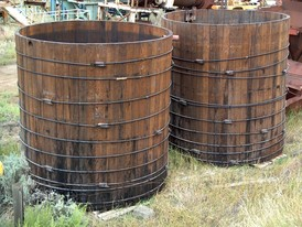 3900 Gallon Wood Storage Tank